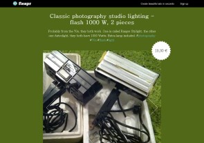 Classic photography studio lighting - flash 1000 W, 2 pieces