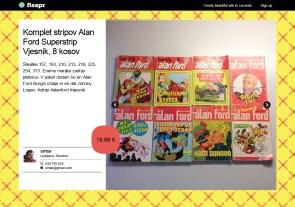 Komplet stripov Alan Ford Superstrip Vjesnik, 8 kosov