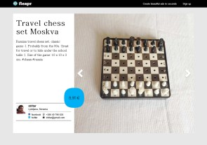 Travel chess set Moskva