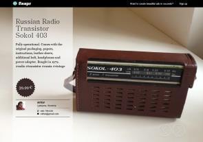 Russian Radio Transistor Sokol 403