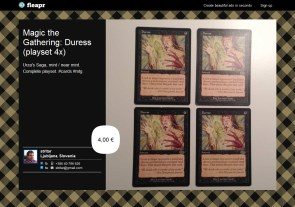 Magic the Gathering: Duress (playset 4x)