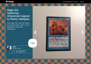 Magic the Gathering: Attunement (signed by Randy Gallegos)