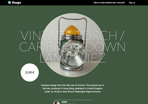 Vintage torch / car breakdown lamp - Liez