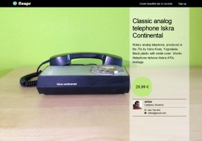 Classic analog telephone Iskra Continental